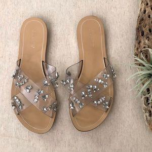 J. Crew Cyprus Crystal Sandals sz 9